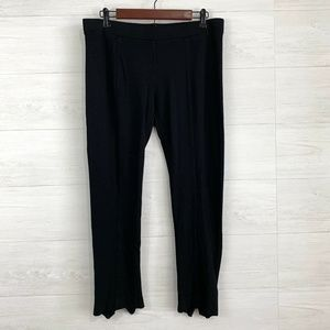 Gap Black Stretch Knit Elastic Waist Crop Leggings